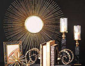 Decor set GOLD by EICHHOLTZ 3D model