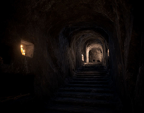 Ancient Catacombs 3D model VR / AR ready