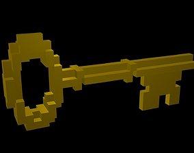 3D asset Classic Key voxel
