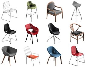 12 Chair Pack Collection cabinet 3D