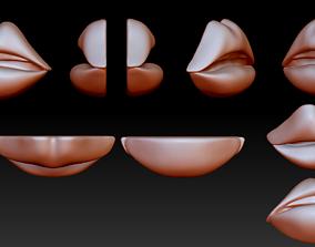 Lips emoji 3D print model