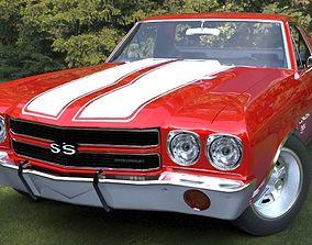 3D model Chevrolet 1970 El Camino SS