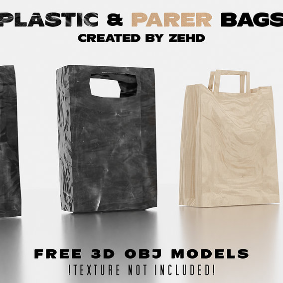 Plastic and paper bags, Free models