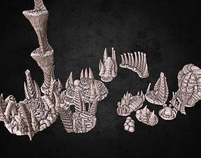 tyranid Biomass Mounds Terrain 3D print model