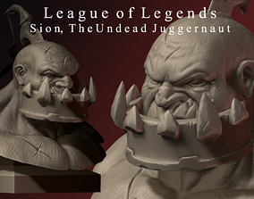 3D printable model Sion The Undead Juggernaut Bust