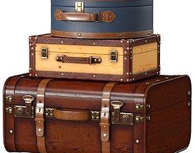Vintage Suitcases 3D model