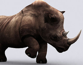 3DRT - Fantasy Animal Rhino animated