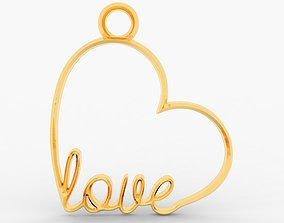 3D print model Heart earrings - pendant
