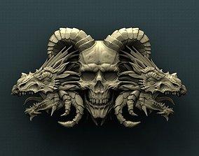 Dragon Skull 3d stl model for CNC