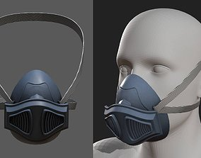 Gas mask plastic military combat 3d futuristic low-poly