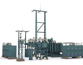 electric station details 3D model