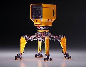 3D asset Bake robot blender model