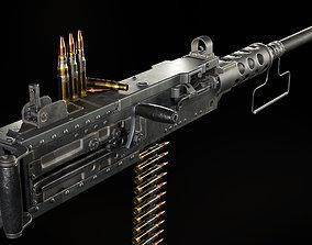 M2 Browning Heavy Machine Gun 3D asset