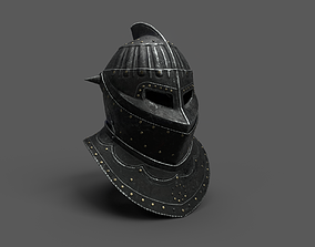 3D asset Medieval Dark Helm Low Polly PBR