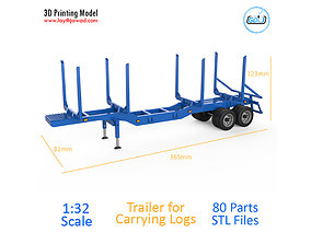 Trailer for Carrying Logs 3D printable model