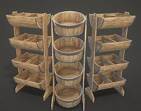 Bucket Shelves 3D model