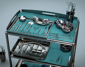 Surgical Instruments - Medical Equipment 3D model 1