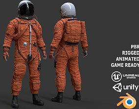 CS02 Male Space Suit LITE VERSION 3D asset