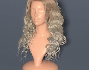 3D model Blondie curly hair in Vray render