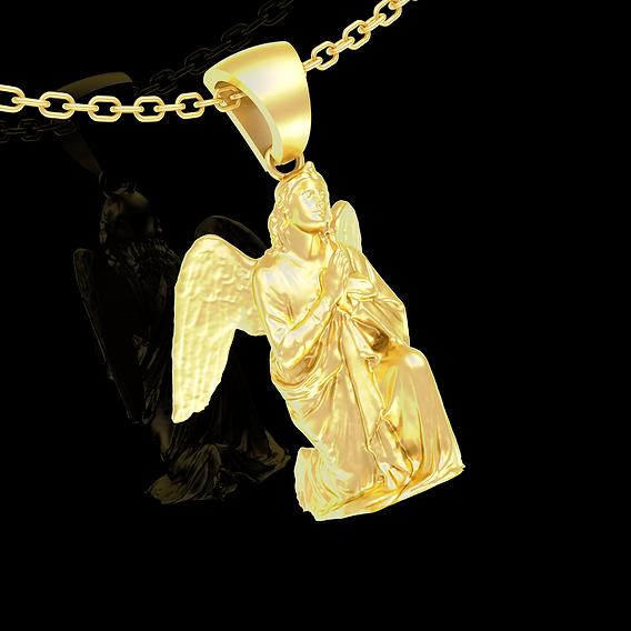Angel Clasp Hand Pendant jewelry Gold 3D print model