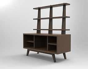 3D printable model TV Unit for Doll House