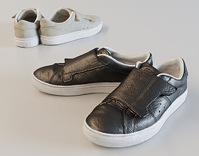 Leather Monk Sneakers 3D asset