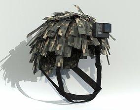 Tactical Helmet Cover Netting PBR 3D model