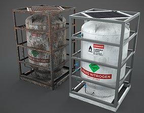 3D model Liquid nitrogen storage tank
