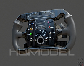 Indy Car Steer Wheel PBR 3D asset