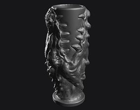 3d model of vase - glass with dragon for print