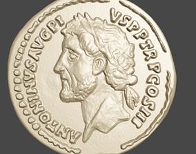 3D printable model ANTONINUS PIUS AUREUS ROME AU50-53 GOLD
