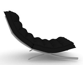 3D model low-poly PBR Barcelona Chair