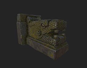 Dragon Statue monument 3D asset low-poly