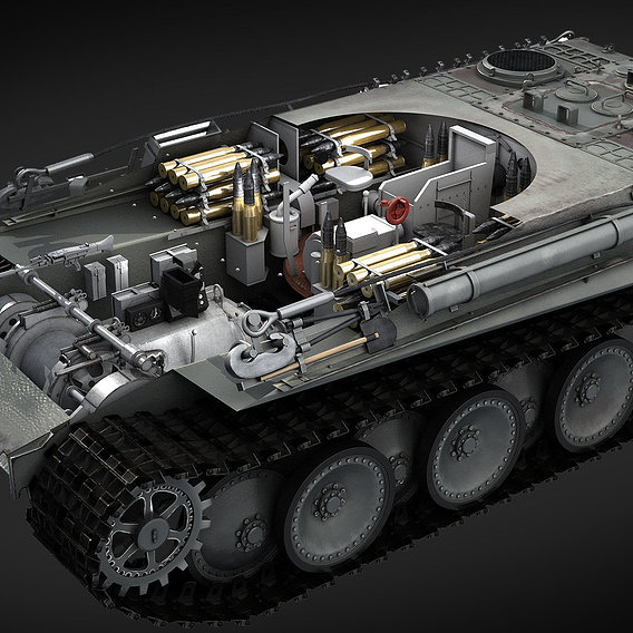 The Panther tank.Interior WIP