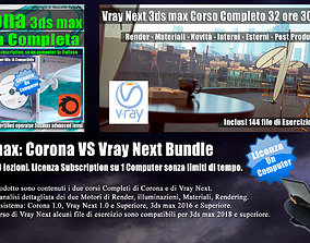 3ds max Corona VS Vray Next Bundle Subscription un