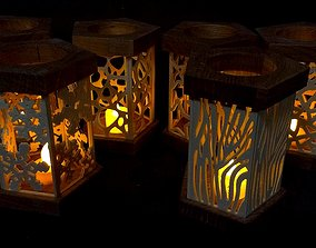 3D Lantern for tealight with 15 different pattern