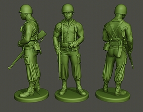 3D print model American soldier ww2 stand guard A5
