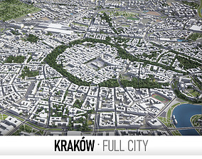 Krakow - city and surroundings 3D asset