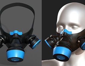 Gas mask protection futuristic fantasy plastic 3D model