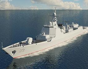3D Type 052D destroyer