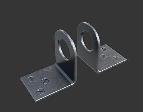 Steel eyelets for padlock medieval 3D model