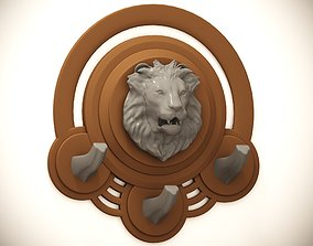 3D print model Coat hook Lion