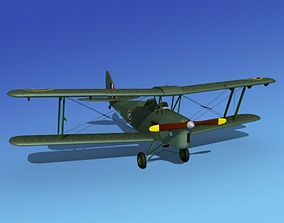Dehavilland DH82 Tiger Moth V09 3D model