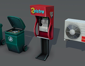 City Objects - low poly 3D asset