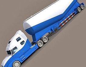 3D Blue Tanker Truck 12