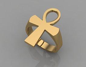 3D printable model ANKH CROSS RING