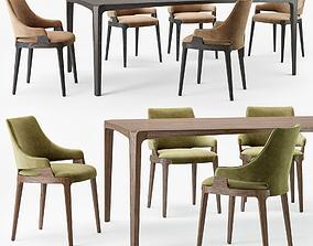 Potocco Velis chair Eiles table 3D model