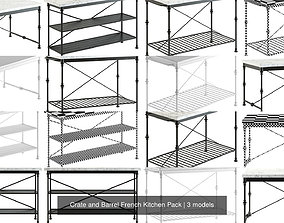 Crate and Barrel French Kitchen Pack 3D
