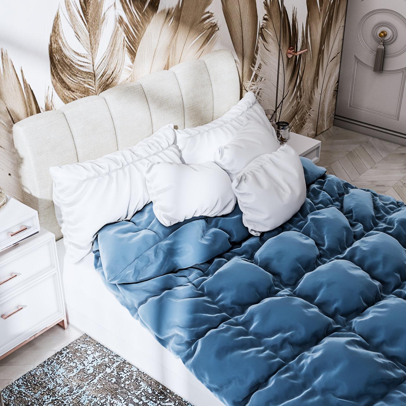 Bedroom eklektika done by 3DAG