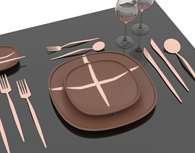 Table Setting 2 interior 3D model
